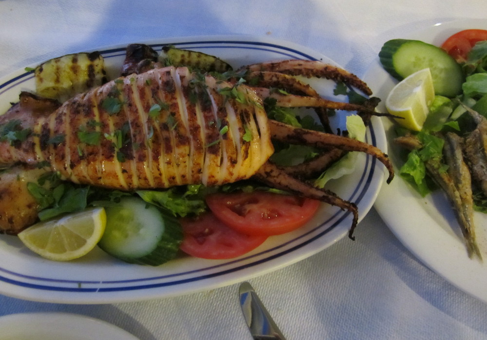 calamar farci aux legumes